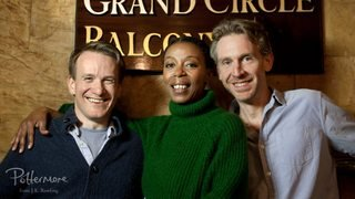 The actors who will be playing the main trio in TCC; two white men and a black woman