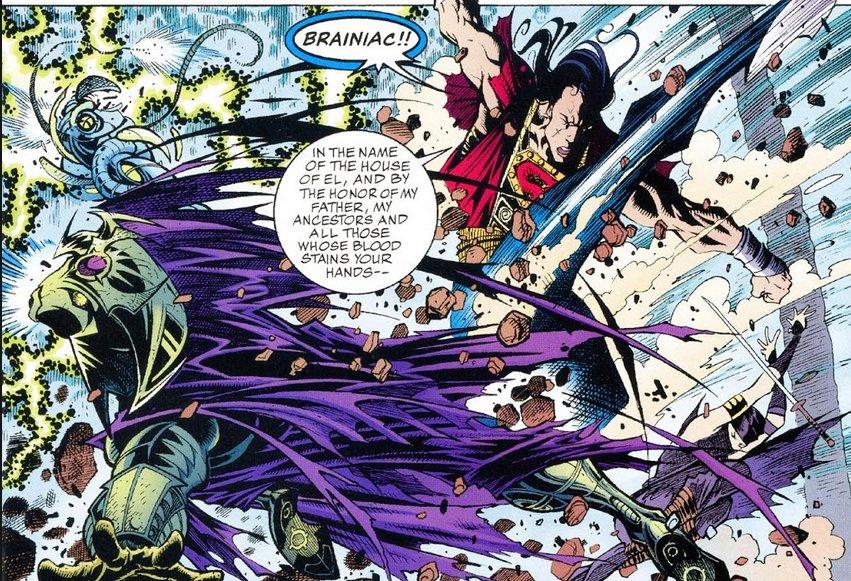 Hoshi punches Brainiac