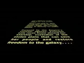 """Screencap from the opening crawl of """"A New Hope"""""""